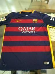 Camisa oficial do Barcelona tamanho P adulto