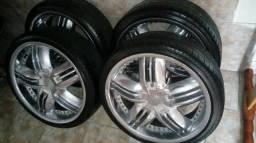 Roda 20 pneus novos