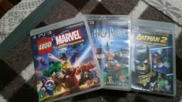 3 jogos Lego: Batman 2, Harry Potter e Marvel Super Heroes para PS3 PlayStation 3