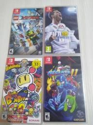 Megaman 11, BombermanR, Fifa18, Lego Ninja Go, xenoblade 2 - nintendo switch