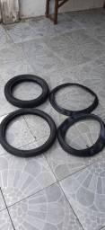 2 pneus e 2 câmaras de ar pirelli usada de biz,zap 9  *