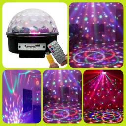 Bola maluca led mp3<br>Bola Maluca LED RGB Crystal C/ MP3!