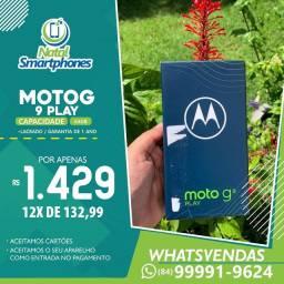 Motorola Moto G9 PLAY (64GB, 4GB RAM) CÂMERA TRIPLAS (LACRADO,NF,GARANTIA)