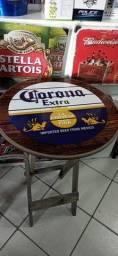 Mesa madeira 80x50 redonda bebidas