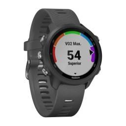 Relógio GPS Garmin Forerunner 245 Preto/Cinza - 12 vezes sem juros