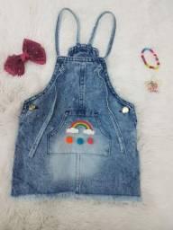 Jardineira jeans infantil TM 2 4 e 6 anos R$ 21.00 reais no atacado zapp 81. *