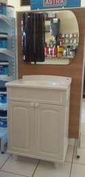 Gabinete pra banheiro cor branco