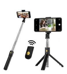 K07 Selfie Vara Integrado Tripé Bt 4.0 Sem Fio Selfie