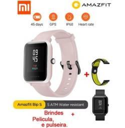 Xiaomi Amazfit Bip S Rosa Smartwatch + Película + Pulseira extra