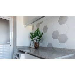 Revestimento Hexagonal Para Fachada 22,8 X22,8cm White Ceral