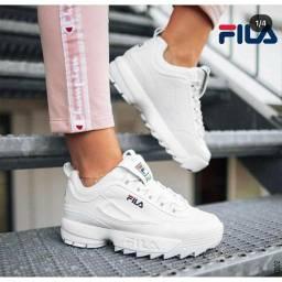 Tênis Fila Disruptor II Premium Feminino - Branco Tam 38