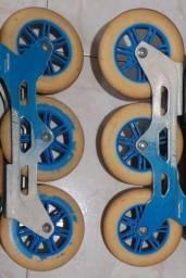 Base Patins + rodas de 125mm