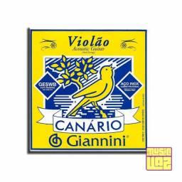 Encordoamento para Violão de Aço Giannini Canário Tensão Média