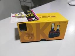 Super led H4 novo na caixa + BRINDE