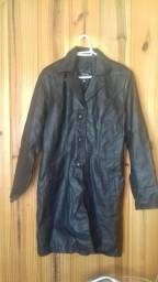 casaco em couro legítimo tamanho M