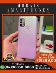 Motorola G10 64Gb Branco Floral (LACRADO COM NOTA FISCAL)