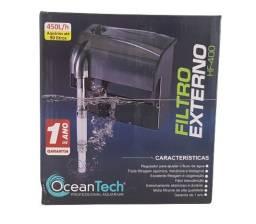 Hf400 Filtro Externo Aquário  ate 90 litros Hang On Ocean Tech  450l/h 127v