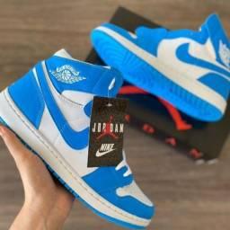 Promoção Tênis Air Jordan Azul N* 39