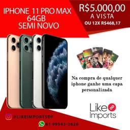 iPhone 11 Pro Max 64GB SEMI NOVO IMPECÁVEIS