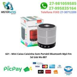 621 -Promoção - Mini Caixa Caixinha Som Portátil Bluetooth Mp3 Fm Sd Usb Hi<br><br>