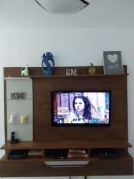 Painel p/ TV até 55 com gaveta e luz de led
