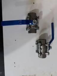 """Válvula de aço inox tri partida 1""""p"""