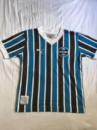 Camiseta masculina do Grêmio homenagem aos 25 anos do mundial