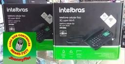 TELEFONE CELULAR COM FIO 3G COM ROTEADOR WI-FI  INTELBRAS