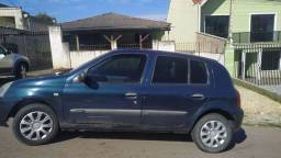 Clio 2006 flex, azul, 5p trava, anti furto