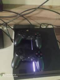 Ps4 500gb 2 controles e 1 câmera para ps4 e 3 jogos