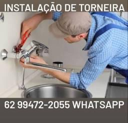 Instalação de Torneira