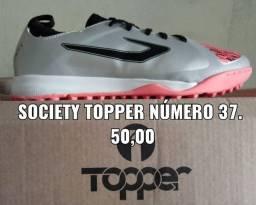 Promoção : chuteira Society topper 37 43 44.