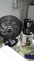 Vende-se ventilador turbo Mondial 8 helises e cafeteria Mondial