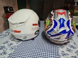 Macaçao completo e capacetes