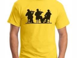 Camisetas musicais adulto e infantil