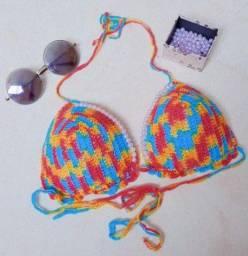 Biquínis de crocher com bojo