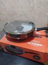 Super frigideira wok Brinox Grande com tampa