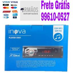 Rádio P/ Carro  C/ Mp3, Bluetooth, Usb, Sd E Auxiliar