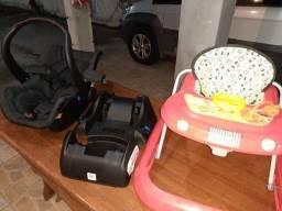 Vendo bebê conforto galzerano,base pra bebê e andador baby tutti conforto galzerano e