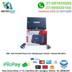 898 - Promoção - Som Portátil Power Por Indução P Celular Tomate Mts-8812<br><br>