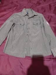 Camisa xadrez TEEN, cinza, nova.