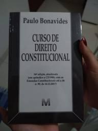 Livro de Paulo Bonavides/ Curso de Direito Constitucional