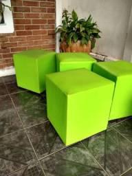 Puff Verde Quadrado