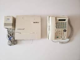 PABX + aparelho de telefone