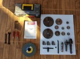 Torno Mecanico Novo e Paquímetro Digital em Inox
