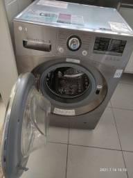 Lavadora Lava e Seca LG WD1485AT7 8,5kg Inox - Água Quente com 14 Programas de Lavagem