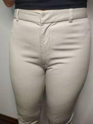 Calça estilo social bege nude
