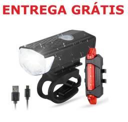 Luz segurança sinalização led lanterna farol bike bicicleta (Entrega Grátis)