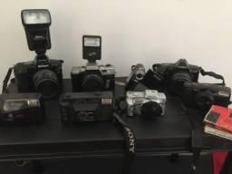 Coleção de câmeras antigas