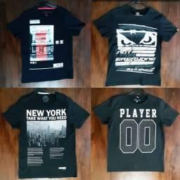 15 camisetas P (pequenas) - usadas em ótimo estado